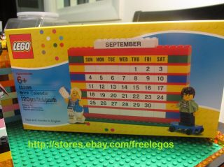 Lego 853195 MONTHLY CALENDAR bricks plus cheerleader & skateboarder