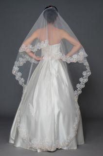 Embroidery Bridal Wedding Accessories Whites Ivories Veils
