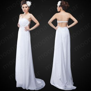 Stock Gown Prom Wedding Party Ball Cocktail Bridal Dresses Size 6 8 10