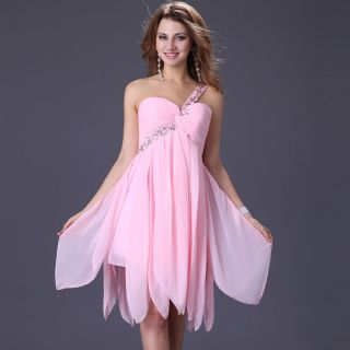 Elegant Wedding Bridesmaid Short Party Bridal Dress Evening Cocktail