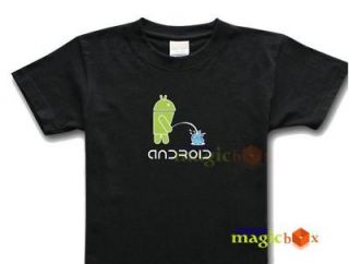 android logo google os geek t shirt pee piss on