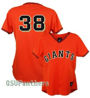 Brian Wilson San Francisco Giants Womens Alternate Orange Jersey Sz s