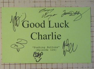 Bridgit Mendler Jason Dolley Good Luck Charlie Cast Autographs Hand