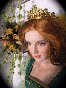 Franklin Mint Brianna Princess Of Tara Celtic Artist R Evans Coa Very