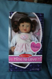 Melissa & Doug Mine to Love Doll & pacifier Brianna 12tall eyes open