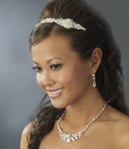 Swarovski Crystals Freshwater Pearls Bridal Wedding Headband Tiara