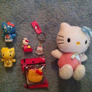 Hello Kitty RARE Lot Plush Las Vegas Key Chain Figures and Legos Japan