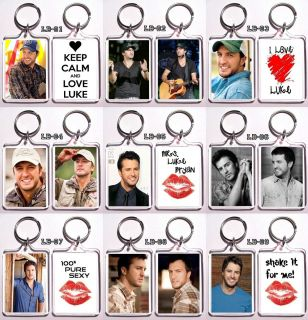 Keychain of The Sexy Country Singer Luke Bryan 9 Designs to Choose