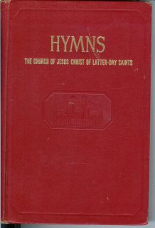 HYMNS Church of Jesus Chris of Laer Day Sains 1969 Red book MORMON