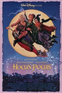 Hocus Pocus Movie Poster 27x40 Bette Midler Kathy Najimy Sarah Jessica