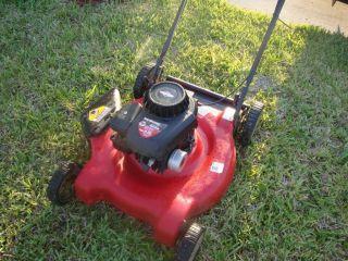 22 cut used lawn mower 158cc briggs stratton gas powered 500 series