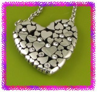 brighton silver la beau heart necklace nwtag