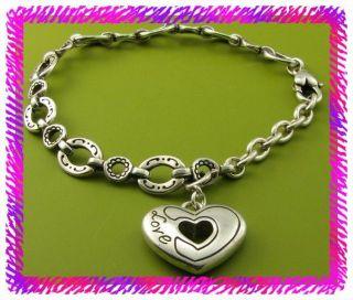 Brighton Silver Golden Spring Heart Charm Bracelet NWotag