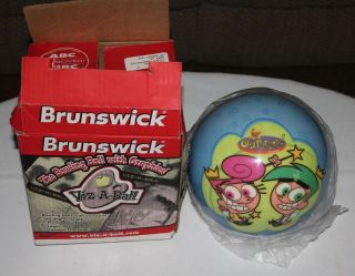NEW NIB Brunswick 12 lb Bowling Ball Nickelodeon Cosmo Wanda Fairly