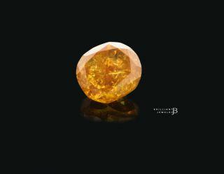 Oval Brilliant Fancy Deep Yellow Orange Loose Engagement Diamond