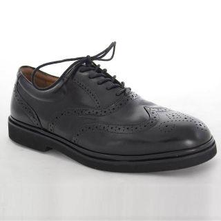 Florsheim Bristow Win Tip Black Leather Dress Shoes for Men