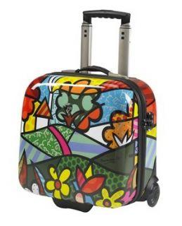 Heys Britto Landscape Flowers Ecase Rolling Laptop Business Case B702