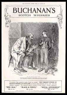 Dickens Oliver Twist & Fagin art Buchanans Scotch whisky print ad
