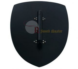 Medieval Knight Crusader Shield Black Cross Buckler Brand New