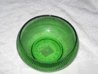 Vintage E O Brody Co Cleveland Green Glass Bowl