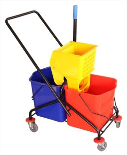 Commercial MOP Bucket 63 4 Qt w Wringer Double Buckets Yellow