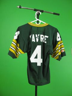 Vintage GREEN BAY PACKERS BRETT FAVRE JERSEY Champion YOUTH M