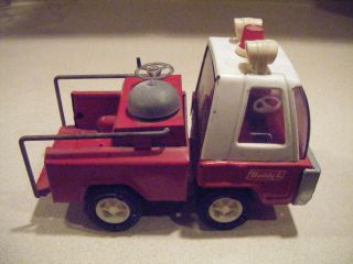 Buddy L Fire Truck White Cab with Siren Lights Working Bell VGC