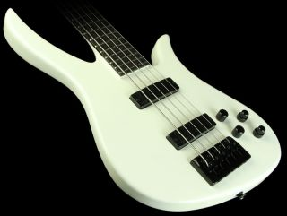 Carvin B2 Brian Bromberg 5 String Electric Bass Guitar White