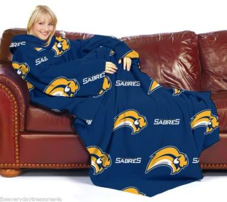 Buffalo Sabres NHL Logo Snuggie Blanket Throw Fleece w Sleeves New