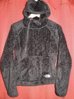 The North Face TNF Womens Black Fuzzy Hoodie Shirt Jacket Size Medium