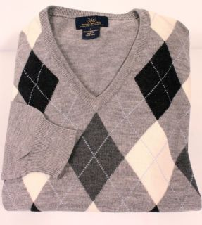 Brooks Brothers 346 Extra Fine Merino Wool Grey Sweater Size Small New