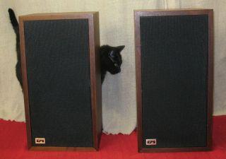 EPI Epicure M 100 Speakers Walnut Wood Veneer Rubber Surrounds