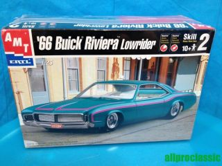 66 Buick Riviera Lowrider, 1/25 Scale AMT Model Kit NEW SEALED FREE