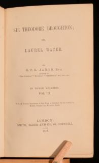 1848 3VOL GPR James Sir Theodore Broughton or Laurel Water Scarce