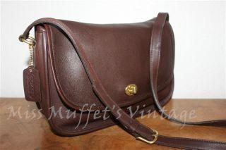 Vintage COACH Mahogany Brown Classic City Bag Shoulder Handbag 9790