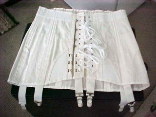 Vintage  Corset~Rigid Construction~Garters~Open Crotch~Laces