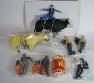 Rodeo Champions Deluxe Bull Riding Playset Schylling Cowboy Clowns