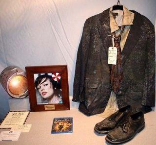 Resident Evil ZOMBIE Movie Costume COA, UACC Signed MILLA JOVOVICH