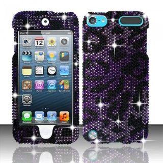 ZIZO Apple iPod Touch 5 5G Jeweled Gem Bling Case Purple Cheetah
