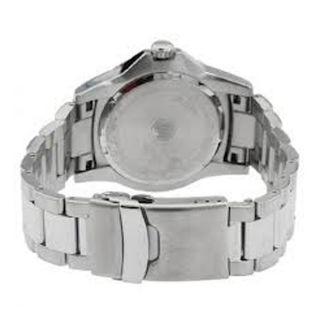 Bulova Mens Stainless Steel Case Date Steel Bracelet Mineral Glass