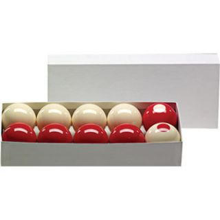 Bumper Pool Ball Set 2 1 8 Regulation Size in Red White for BP Tables