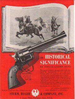 1960 Ruger Blackhawk Revolver My Bunkie Vintage Gun Ad