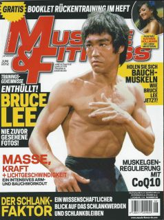 BRUCE LEE MUSCLE AND FITNESS MAGAZINE JUNE 2012 GERMANY EDITION