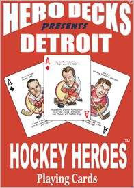 Detroit Red Wings NHL Hockey Collectible Playing Poker Cards Fans Hero