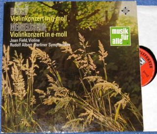 Field Mendelssohn Bruch Violin Conc Telefunken Stereo