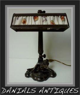 Antique Art Nouveau Pierrot Bureau Desk Lamp 1900S