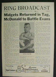 Wrestling Program 1951 Calgary Little Beaver Midgets