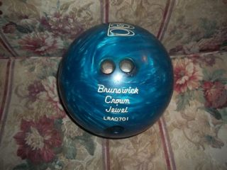 BRUNSWICK CROWN JEWEL BOWLING BALL LRA0701 12 lbs 3 4 oz NICE