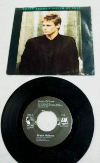 Bryan Adams Victim of Love Into The Fire 45 RPM Vinyl EP Record Single