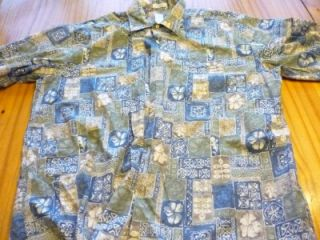 Burma Bibas 100 Cotton Short Sleeve Hawaiian Style Shirt Size Adult XL